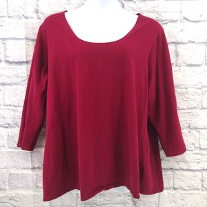 K. Jordan Plus Size 5x 3/4 Sleeve Top